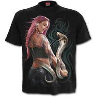 Spiral Direct SERPENT TATTOO T-Shirt/Snake/Tribal/Goth/Skull/Halloween/Rock/Top