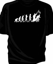 Evolution of Man, speedway dirt bike track t-shirt.