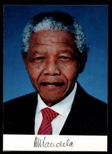 Nelson Mandela Autogrammkarte Präsident Südafrika TOP