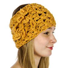 Cable Knit Crochet Headband/Headwrap Women's Fall/Winter Mustard