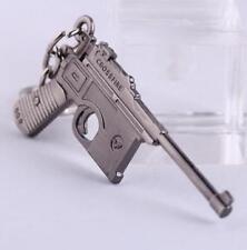 Gun Pendant Key ring chain Cross Fire Mauser Military Weapon Model Metal 6CM ☆