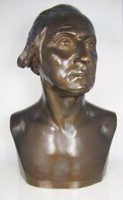 Rare LG Bronze Statue George Washington, Henry Bonnard Foundery NY 1898, 19 cent