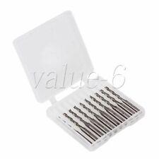 10 x Hartmetall 2-Zahne Schaftfräser Fräser für Farbplatte Acryl ABS