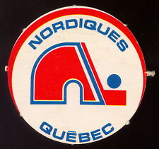 1972 73 OPC O PEE CHEE WHA Quebec Nordiques nm Team Logo Insert Punched Emblem