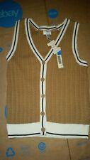 Covington Womens am Brown Knit Sweater Vest Medium