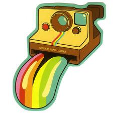 funny Land rainbow instant camera style 7x9cm Decal vinyl sticker #1204