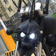 Motorcycle Skull Head Light Headlight Lamp LED For Harley Sportster 1200	Touring