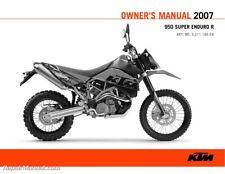 2007 Ktm 950 Super Enduro Motorcycle Owners Manual Paper