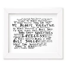 My Bloody Valentine poster print-Loveless-Letras Regalo Arte Firmado