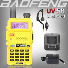 BAOFENG UV-5R YELLOW 136-174/400-520Mhz VHF/UHF Walkie Talkie Dual Band FM Radio