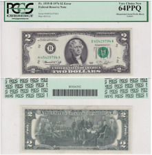 1976 $2 New York District Error Mismatched Serial Prefix Fr# 1935-B Pcgs 64Ppq