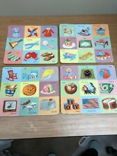 4 lot Antique Vintage P&M Co, INC Picture Puzzles school game kid teach children