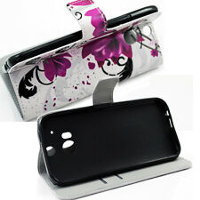 Premium Leather Wallet  Flip Case Cover Stand Pouch For HTC ONE M8 HOT