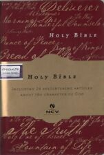 NCV Holy Bible, Thomas Nelson, Dark Red Imitation Suede, New