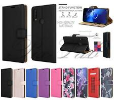 For Alcatel 1S 2020, 5028Y, Leather Wallet Phone Case Cover + 9H Tempered Glass