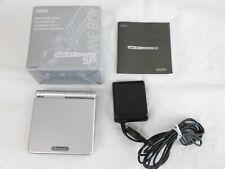 V2835 Nintendo Gameboy Advance SP console Platinum Silver GBA w/box adapter