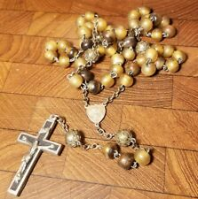 Vintage - Antique Religous Rosary Bead and Chain Necklace