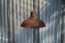 LARGE RUSTY STEEL VINTAGE STYLE BARN LAMP WORKSHOP CEILING LIGHT SHADE RS3SR4