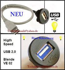 USB Einbaubuchse BELEUCHTUNG 50cm passend für VW Polo Passat Golf Transporter UP