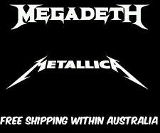 Metallica/megadeth decal sticker car ute drift