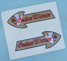 1950s Indian Motorcycle Gas Tank Water Slide Decal Indian Warrior - Scout Chief