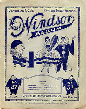 SHEET MUSIC - THE MAY WINDSOR CONCERT PARTY ALBUM No.37 - REYNOLDS & Co. (1924)