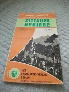 ZITTAUER GEBIRGE - Wanderkarte mit Angaben für Wintersport 1 : 30 000