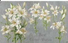 vintage easter postcard Early 1900S Easter Lillies