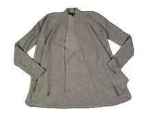Eileen Fisher | Gray Wool Knit Open Front Cardigan Size PS