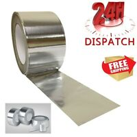 6 Rolls Aluminium Foil Tape 50mm x50m Silver Duct Self Adhesive Heat Insulation