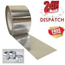 3 Rolls Aluminium Foil Tape 50mm x50m Silver Duct Self Adhesive Heat Insulation