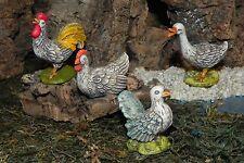 """Euromarchi Animal Figurine Set/4 for 5.5"""" Nativity Manger Pesebre Animales"""