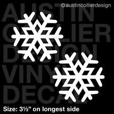 "Set of 2 * 3.5"" SNOWFLAKE vinyl decal car window laptop sticker - winter snow"