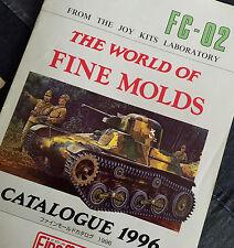 Original 1996 FINE MOLDS Catalogue Second One Ever Produced