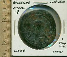 Byzantine Michael Iv 1028-1034 Class B+Emma Ouhl Christ Isixxi Basile/Basile