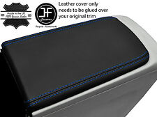 BLUE  STITCH ARMREST LID REAL LEATHER COVER FITS TOYOTA PRIUS PLUS 2012-2016