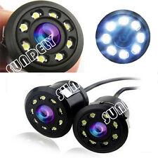 12V Infrared Night Vision 8LED Car Rear View Backup Parking CCD NTSC Camera UK