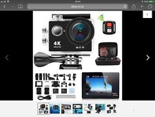4K WiFi Action Camera Ultra  HD DV Sports Water Resistant to 30m