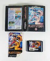 Alien Storm (Sega Genesis, 1991) Tested Box and Game