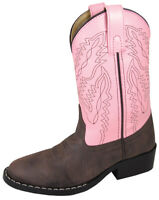 Smoky Mountain Girl Monterey Western Cowboy Boots Round Toe Pink/Brown