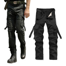 Men's Cotton Casual Military Army Cargo Camo Combat Work Pants Relaxed Trousers