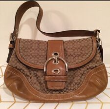 Coach Signature Hobo, Brown, New Without Tags
