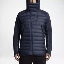 Nike Tech Fleece Aeroloft Down Jacket Winter NAVY BLUE BLACK 806838-451 2XL XXL