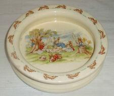"Royal Doulton Bunnykins Bowl Barbara Vernon Heavy Porridge Dish 7.5"" Picnic"