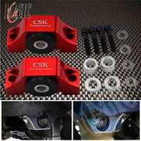 Engine Billet Motor Torque Mounts Kit For Honda Civic EG EK D16 B16 B18 B20 Red