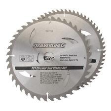 Silverline TCT Scie Circulaire Lames 40, 60T 2pk 250x30 - 25/20/16mm Anneaux
