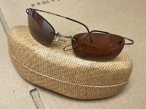 Maui Jim Titanium Flexon MJ-503-23 Wailea Sunglasses, Gradient Bronze lens