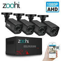 CCTV 1080P HD Home Security Camera System Outdoor 4CH DVR HDMI Night Vision Kits