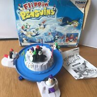 Flippin' Penguins Game by Tomy. Family Board Game Flipping COMPLETE