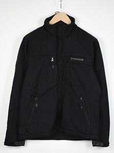 Columbia Titanium Herren Medium Schwarz Fleecefutter Taschen Jacke 37320-GS